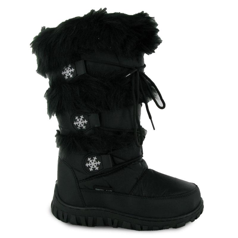 LADIES BLACK MOON FLAT WINTER BOOTS SIZE 3-9 ON SALE UK | eBay