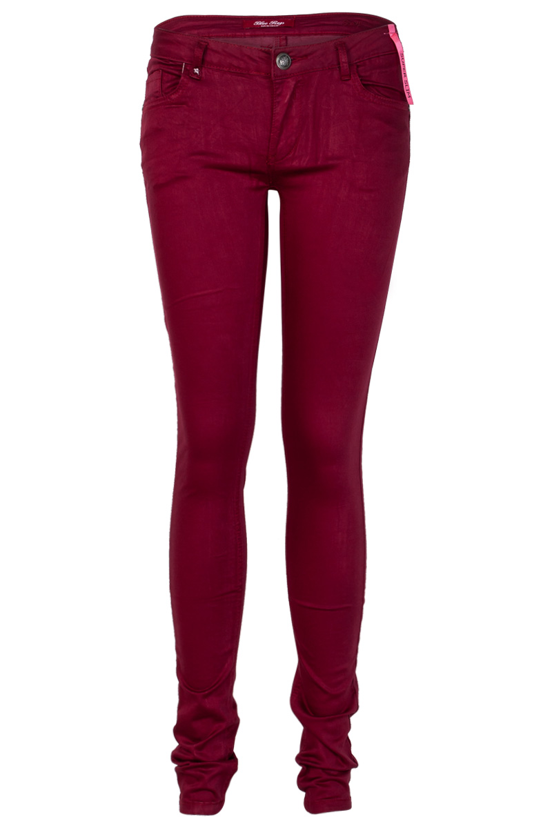 Luxury  NYC The Stretch Twill Pants In Ruby Burgundy Denim Fo  Polyvore