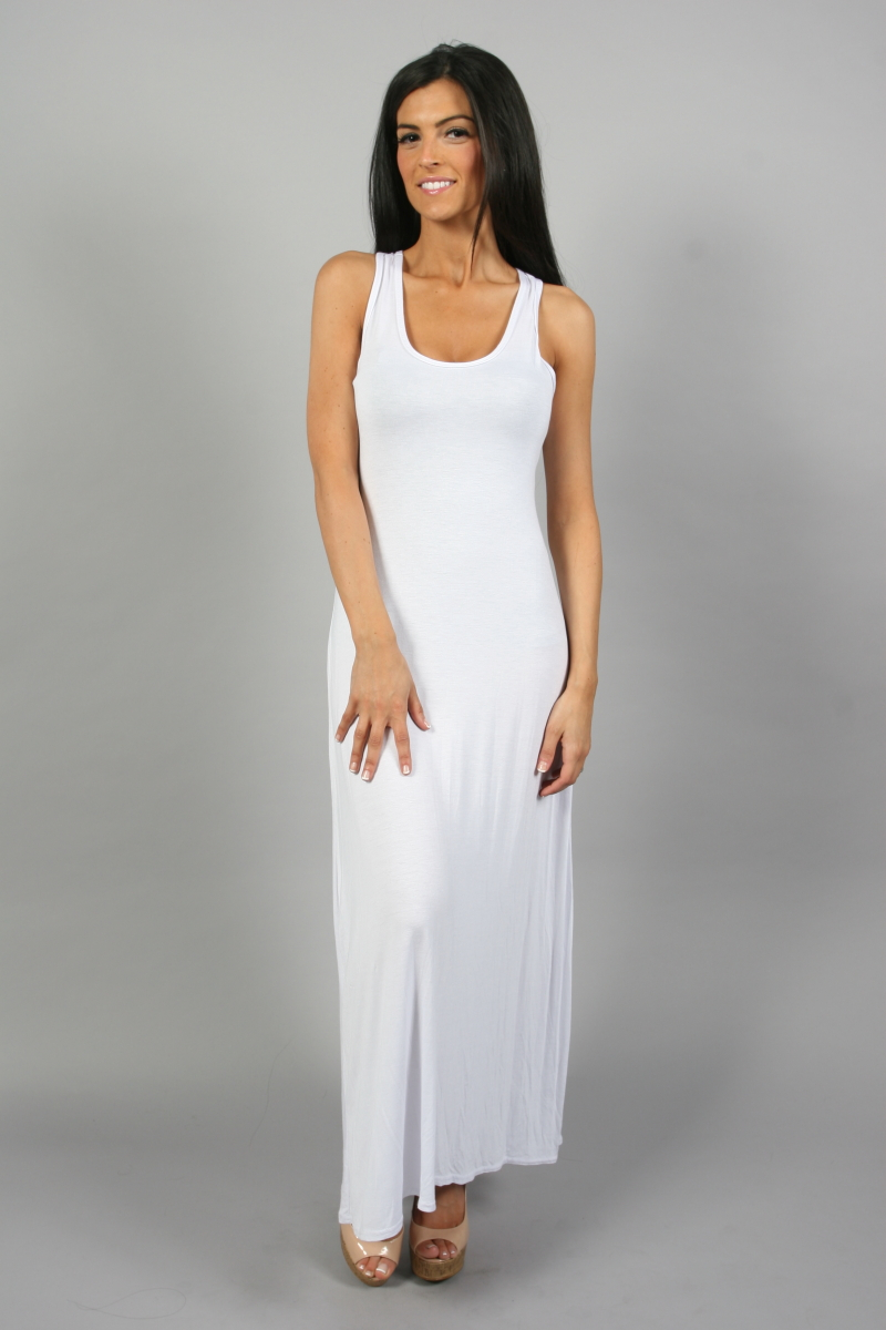 NEW LADIES LONG WHITE SUMMER MAXI DRESS SIZE 8-14 BNIB | eBay