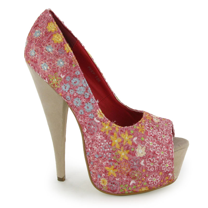 1125e34b092e Details about LADIES RED PLATFORM HIGH HEELS SHOES SIZE 3-8 UK BNIBHigh Heels  Shoes