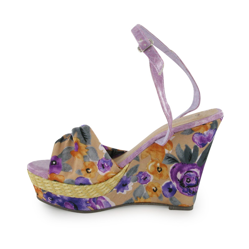 Perfect Womens FitFlops Pietra Purple Sandals Shoes Discount Footwear