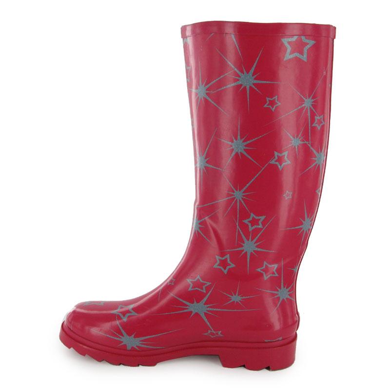 Elegant WOMENS RED WINTER WATERPROOF WARM RAIN BOOTS SIZE 4-8   EBay