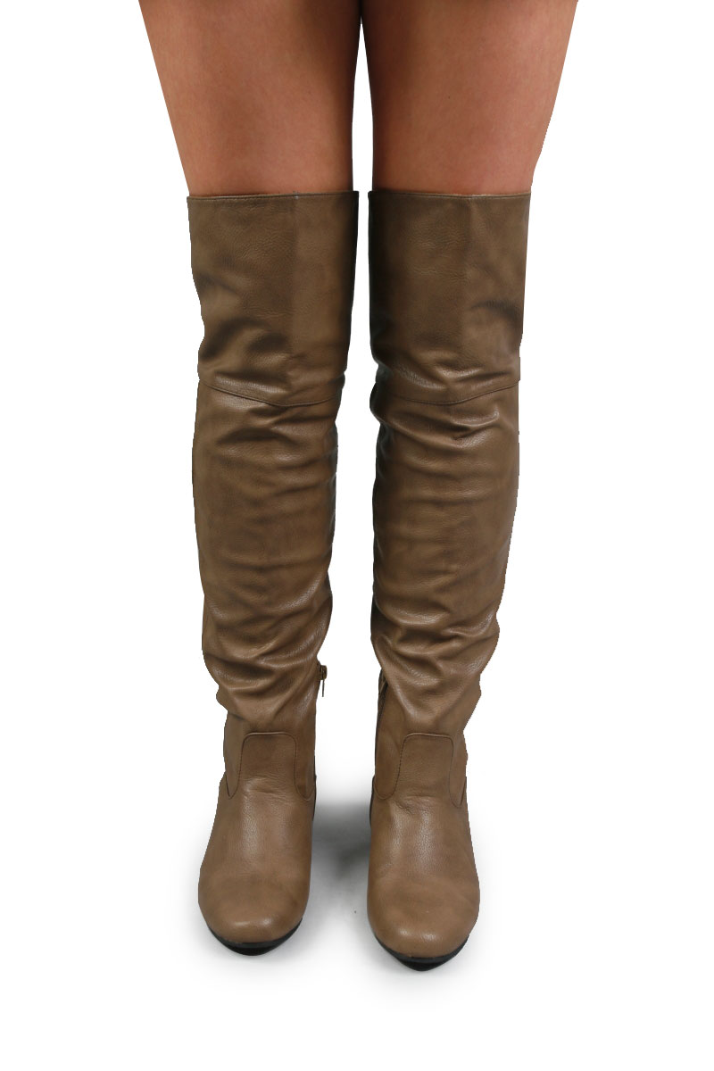 new flat thigh high winter the knee boots ebay