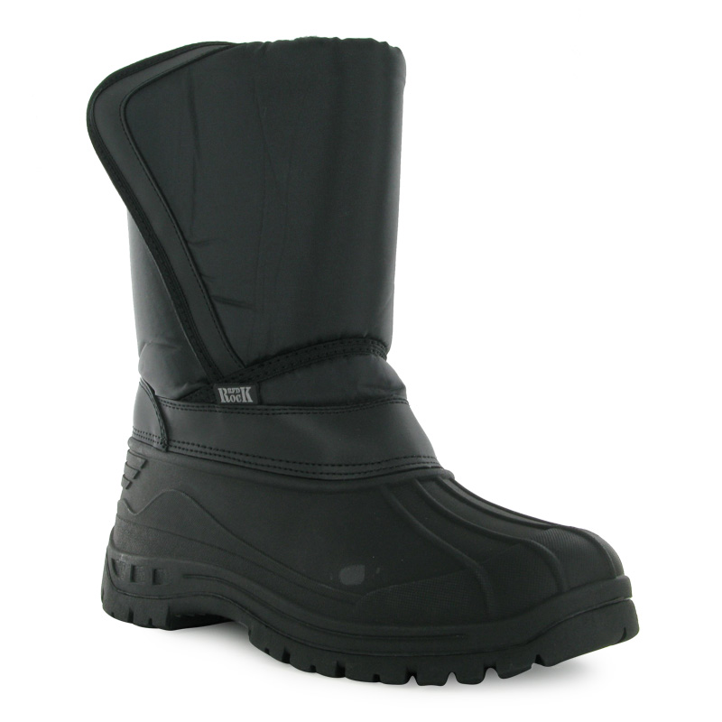 96s mens black padded velcro pull on casual winter rubber