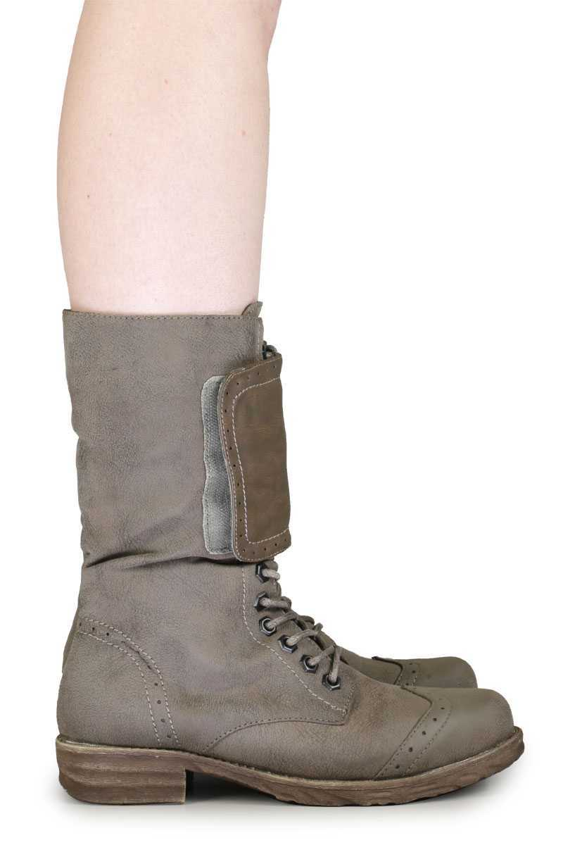 Amazing West Blvd West Blvd Cario Combat Women Faux Leather Gray