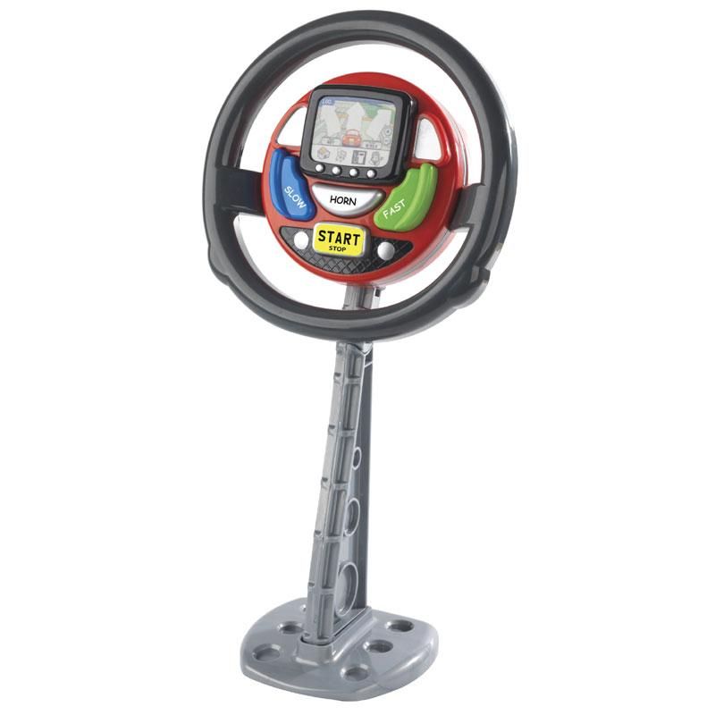 Car Seat Toy Steering Wheel : New kids casdon sat nav steering wheel pretend play fun
