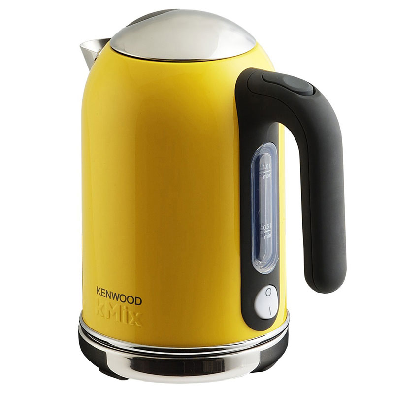 yellow kenwood kmix boutique kettle stylish modern kitchen appliance