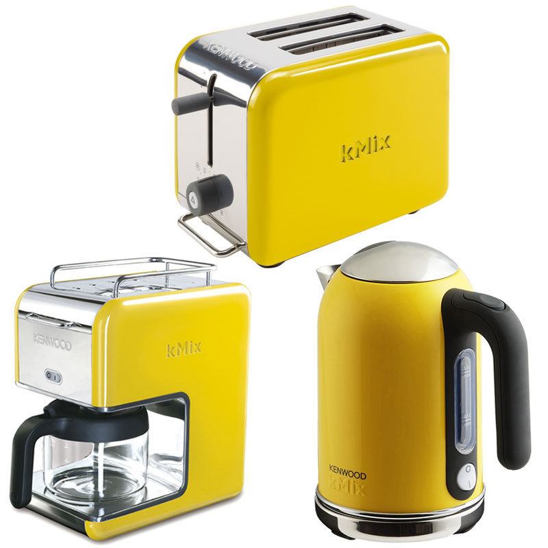 New Yellow Kenwood Kmix Boutique 2 Slice Toaster Modern