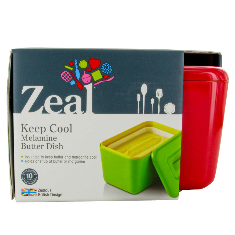 New zeal red melamine margarine spread butter keep cool dish fridge container unique home living - How do i keep my container home cool ...