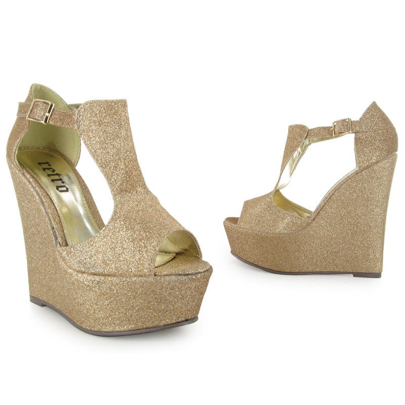 gold court glitter peeptoe womens evening high