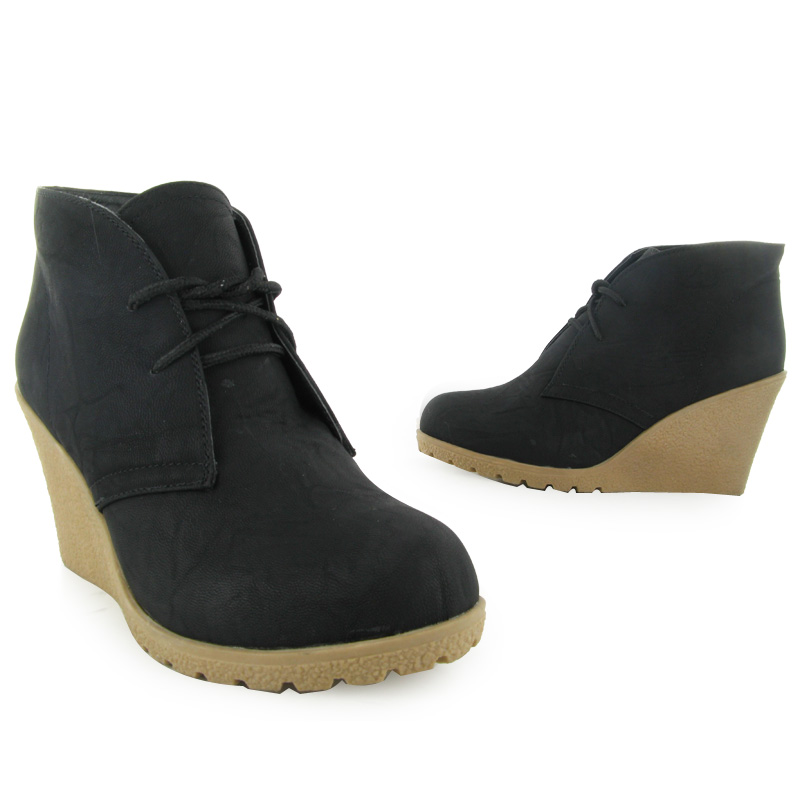 new womens black stitch heel evening casual lace up