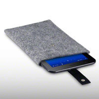WOOL FELT POUCH FOR SAMSUNG GALAXY TAB 7.0 PLUS - GREY