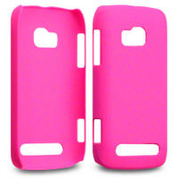 RUBBER COVER / CASE FOR NOKIA LUMIA 710   SOLID HOT PINK