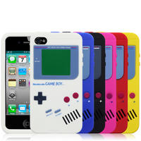 Retro Gameboy Style Cases / Covers For iPhone 4G 4S White Black Red Blue Pink
