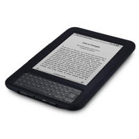 RUBBER SILICONE SKIN CASE FOR AMAZON KINDLE 3 BLACK