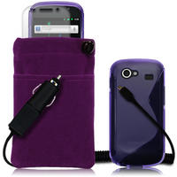 4-IN-1 PACK FOR SAMSUNG NEXUS S - PURPLE