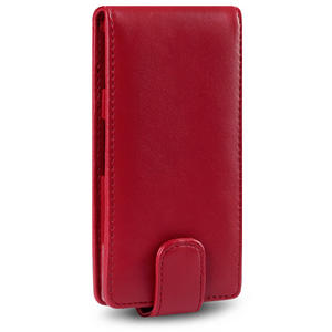 Premium-PU-Leather-Flip-Case-Cover-For-Sony-Xperia-P-Black-Purple-Pink-Red