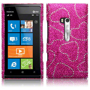 Diamante Case Cover For Nokia Lumia 900 / Full Silver, Pink, Black