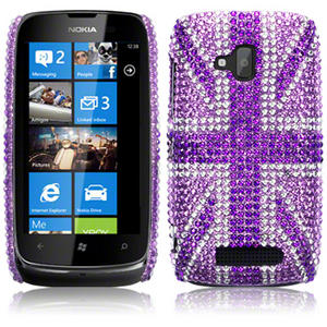 Diamante Case Cover for Nokia Lumia 610 Black,Green,Pink,Purple,Blue