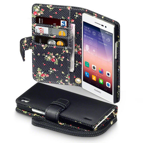 Terrapin Premium PU Leather Wallet Case for Huawei Ascend ...