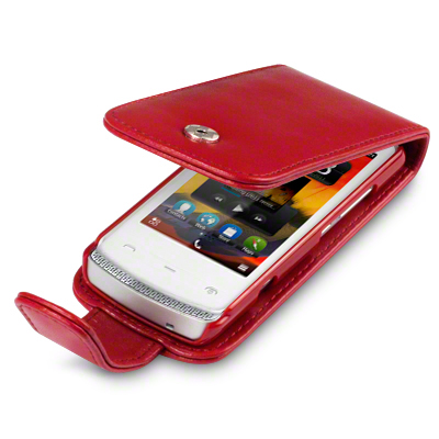 PU LEATHER FLIP CASE / COVER FOR NOKIA 700   RED