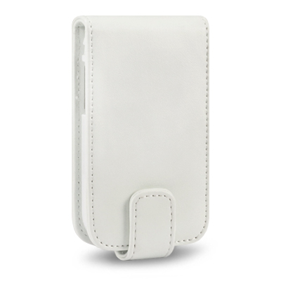 LEATHER FLIP CASE FOR SAMSUNG GALAXY Y S5360 + 6 PC LCD GUARD   WHITE