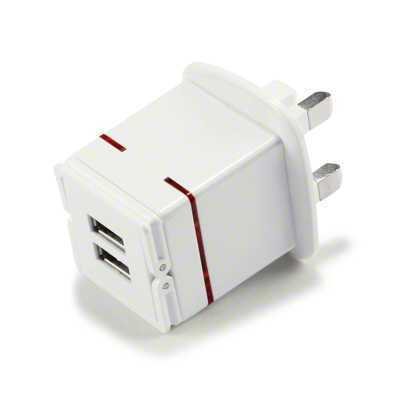 Twin Mains Charger ULP-01 USB Adaptor For Mobile Phones iPods iPhone Cameras