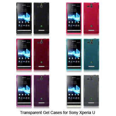 Dettagli su TPU Gel Case / Cover For Sony Xperia U / Smoke Black,Pink ...