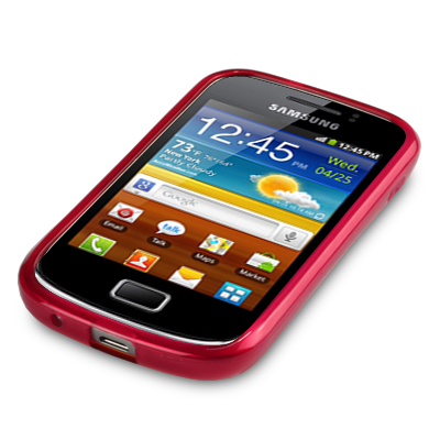TPU Gel Case / Cover For Samsung Galaxy Mini 2 S6500 / Red | eBay