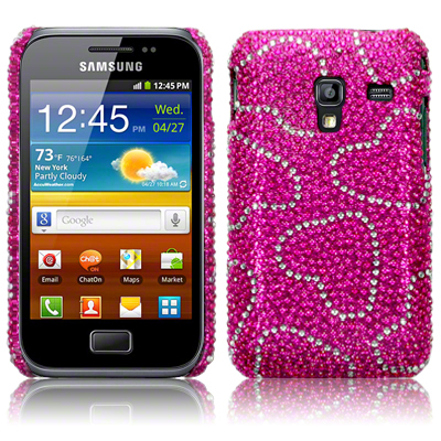 Diamante Case Covers For Samsung Galaxy Ace Plus S7500 Silver,Pink