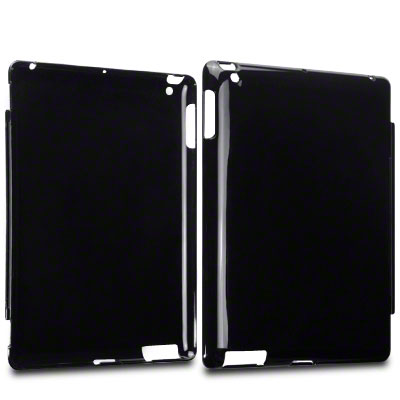 NEW SMART COVER COMPATIBLE HARD BACK COVER FOR APPLE IPAD 4 / IPAD 3 / 2 - BLACK