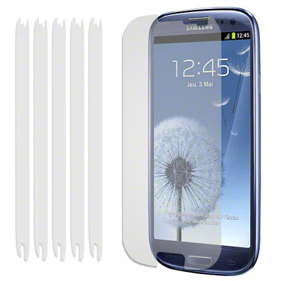 SCREEN GUARD FOR SAMSUNG GALAXY S3 - 6-IN-1 SET