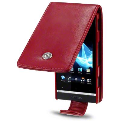 Premium PU Leather Flip Case Cover For Sony Xperia U Black,Pink,Purple