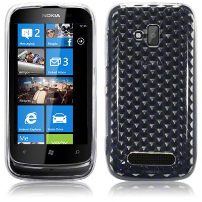 TPU Gel Case / Cover for Nokia Lumia 610 / Smoke Black,Clear,Pink