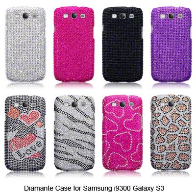 Diamante Case for Samsung Galaxy S3 i9300 Silver,Black,Animal,Purple,Pink,Hearts
