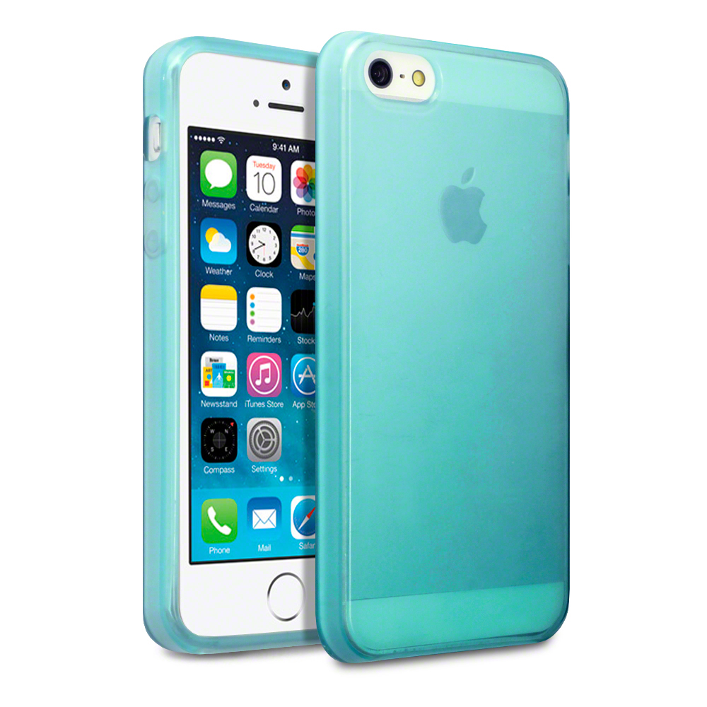 Details about TPU Gel Case / Cover for New iPhone 5/5S/SE - Blue