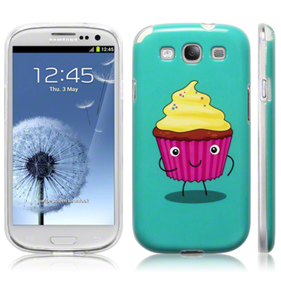 TPU Gel Case Back Cover for Samsung Galaxy S3 i9300 Funny Food Retro Style