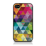 View Item iPhone 4S / 4 Pyramid Patchwork Back Cover Fashion Case Mullticoloured