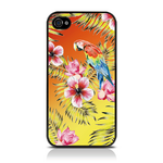 View Item iPhone 4S / 4 Totally Tropical Hawaiian Parrot Orange / Yellow (Designed by Creative Eleven)