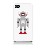 View Item iPhone 4S / 4 Vintage Retro Grey Robot With Red Antenna Hard Back Case