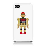 View Item iPhone 4S / 4 Vintage Retro Gold Robot With Red Hat Hard Back Case