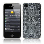 View Item iPhone 4S / 4 Black Pretty Lace Print On White Fashion Case