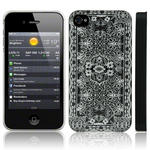 View Item iPhone 4S / 4 White Pretty Lace Print On Black Fashion Case