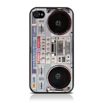 View Item iPhone 4S / 4 Vintage Retro Old Skool Boom Box Hard Back Cover Case