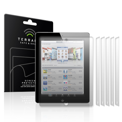 View Item iPad 2 (2011) / iPad 3 (2012) Screen Protector Film Case Six Pack By Terrapin