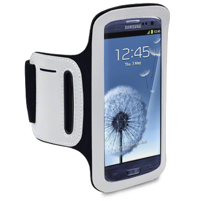View Item Samsung Galaxy S3 I9300 Shocksock Reflective Sports Armband Holder - Black