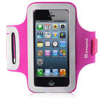 View Item iPhone 5 Shocksock Reflective Sports Armband Holder - Hot Pink