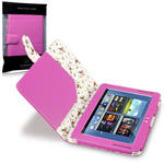 View Item Samsung Galaxy Note 10.1 Fashion Folio Case Floral Interior - Hot Pink