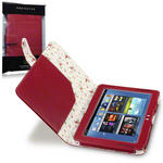 View Item Samsung Galaxy Note 10.1 Fashion Folio Case Floral Interior - Red