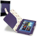 View Item Samsung Galaxy Note 10.1 Fashion Folio Case Floral Interior - Purple